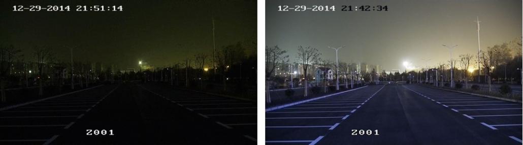 Hikvision Darkfighter camera vs conventionele camera